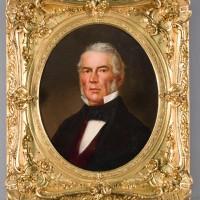 Finished gilt spandrel frame and portrait