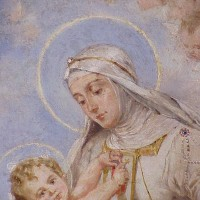 Madonna and child after conservation