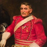 Portrait of Military Bugler after treatment