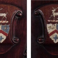 Chairs with painted crests--before