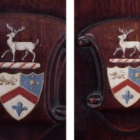 Chairs with painted crests--after