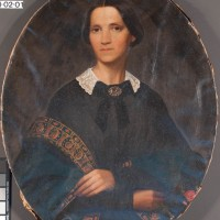 19th Century Portrait before treatment