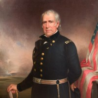 Portrait of Zachary Taylor after cleaning