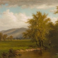 Hudson River School painting after treatment