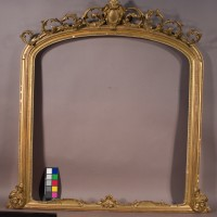 Overmantle mirror before conservation