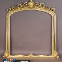 Overmantle mirror after conservation