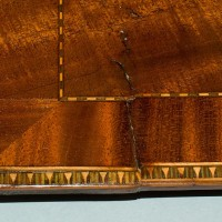 Loss painted to match existing veneer