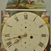 Clock face for tall case clock after cleaning