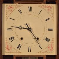 Eli Terry pillar and scroll clock face before restoration